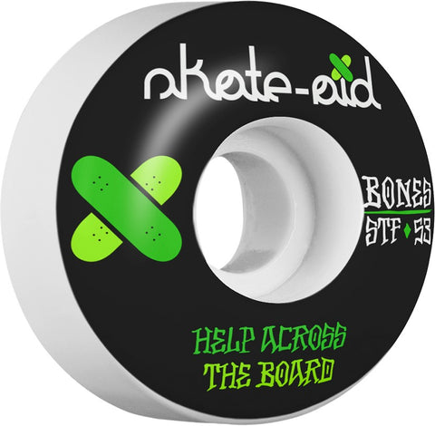 Bones Wheels STF Collabo Skate Aid 53mm 103a V1 Skateboard Wheels 4pk