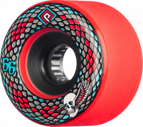 Powell Peralta Wheels Snakes 66mm 75a 4pk Red