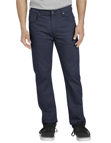Dickies 5-Pocket Pant: Rinsed Dark Navy - XD824RDN