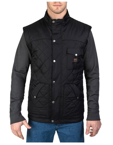 Walls Ranch Nylon Vest: MENS VESTS - BLACK: YE292BK9