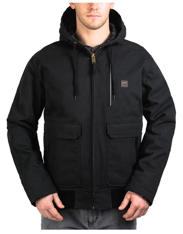 Walls Lancaster Super Duck Hooded Jacket: MENS JACKETS - MIDNIGHT BLACK: YJ310MK9