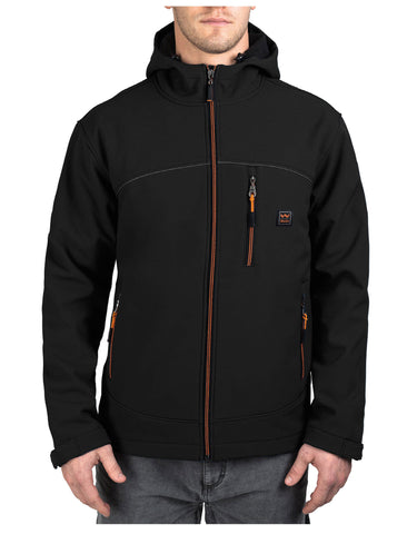 Walls Storm Protector Hooded Solid S/Shell Jck: MENS JACKETS - MIDNIGHT BLACK: YJ742MK9