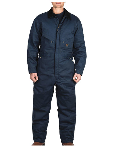 Walls Garland Work Twill Insulated Coverall: MENS COVERALLS - NAVY: YV319NA9