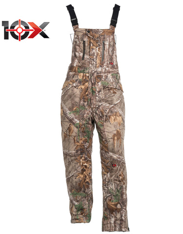 10X Silent Quest Insulated Bib With Scentrex: MENS BIB OVERALLS - REAL TREE XTRA: ZB751AX9