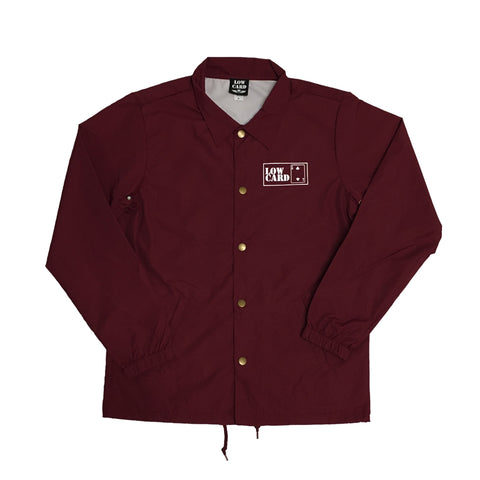 Lowcard Mag Mens The Club Coach Jacket - Cardinal