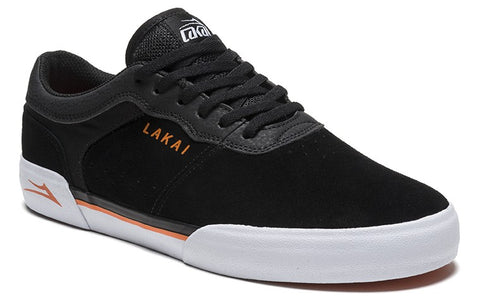 Lakai Staple Mens Skate Shoes - Black/Orange
