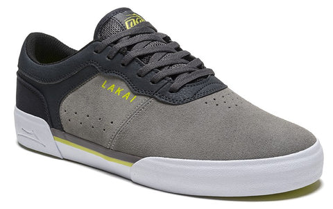 Lakai Staple Mens Skate Shoes - Grey/Orange