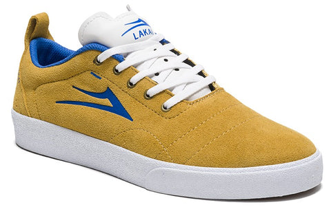 Lakai Bristol Mens Skate Shoes - Gold/Blue