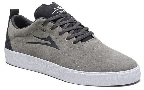 Lakai Bristol Mens Skate Shoes - Light Grey/Charcoal