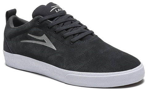 Lakai Bristol Mens Skate Shoes - Charcoal/Silver