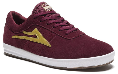 Lakai Seffield XLK Mens Skate Shoes - Burgundy/Gold