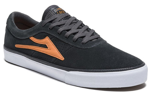 Lakai Sheffield Mens Skate Shoes - Charcoal/Orange