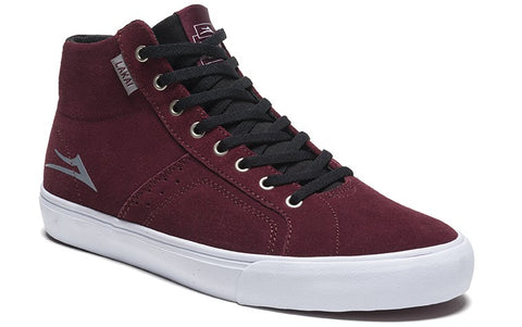 Lakai Flaco High Mens Skate Shoes - Burgundy
