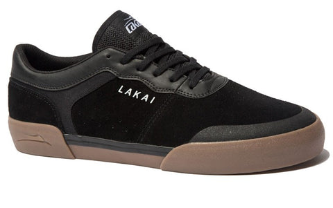 Lakai Staple Mens Skate Shoes - Black/Gum