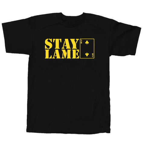 Lowcard Mag Mens Stay Lame T-Shirt