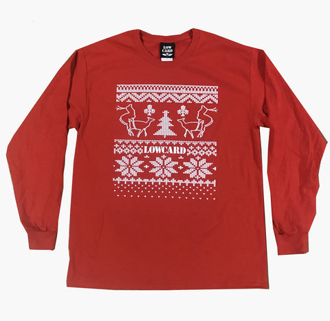 Lowcard Mag Mens Ugly Sweater Contest Longsleeve T-Shirt