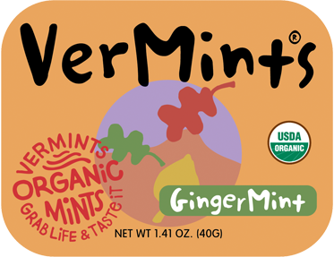 VerMints UK Organic Ginger Breath Mints