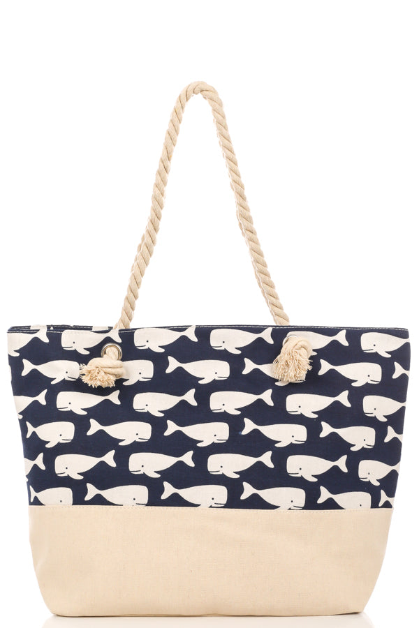 White Whales Tote Bag