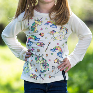 a54b69732 Unicorn 🦄 kids colour in selfie top – Classy, Sassy and Smart Assy ...