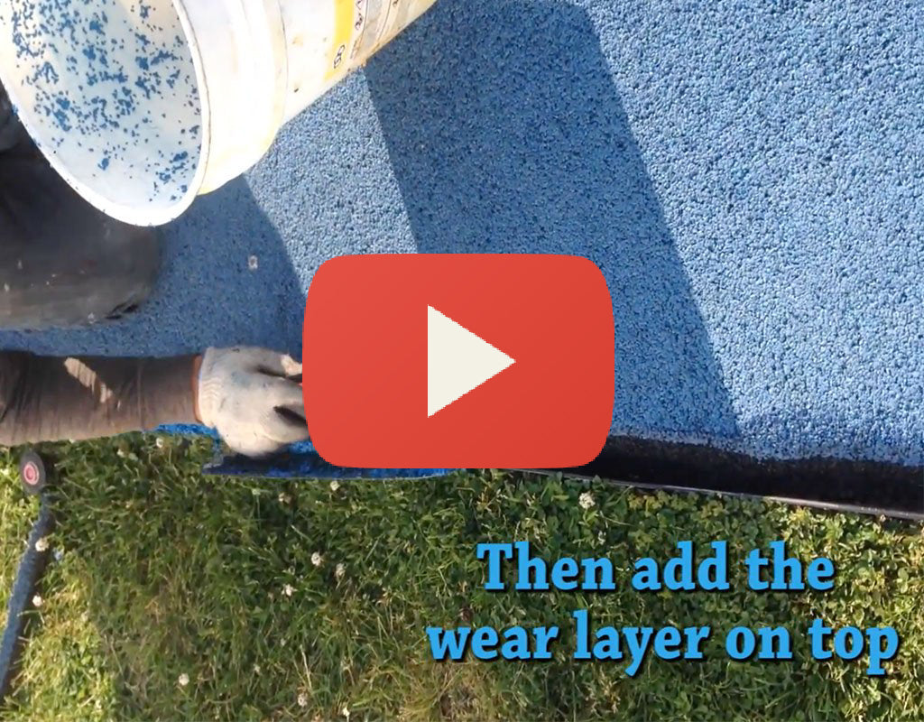 How to Fill the Gaps in Poured in Place Rubber Flooring