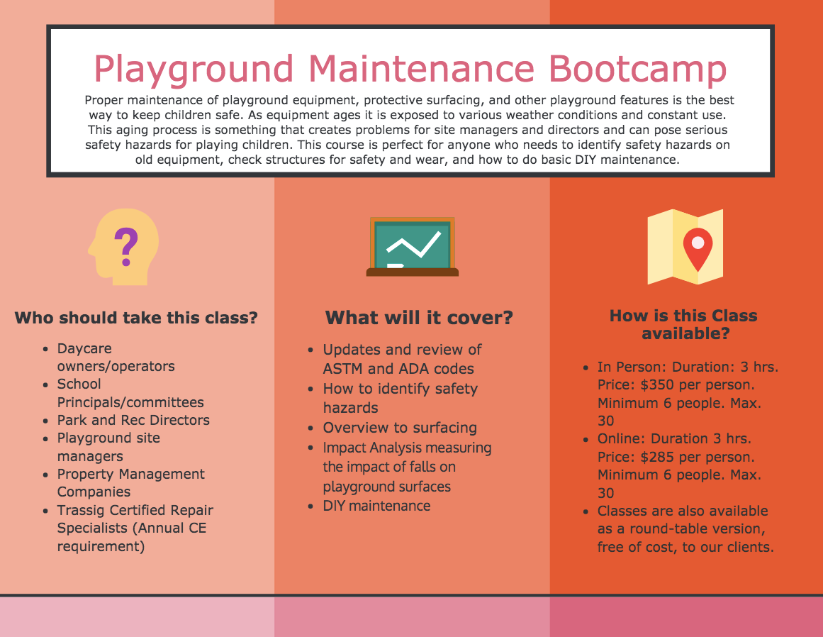 Playground Maintenance Bootcamp Infographic