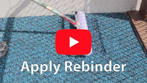 How to apply poured in place rebinder to extend the lifespan of your playground rubber flooring surface and stop granulation