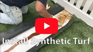 How to install synthetic turf for all turf surafcing areas. Playgrounds, sports fields etc.