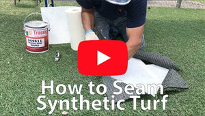 How to seam sythetic turf with specially formulated turf glue and turf seaming tape