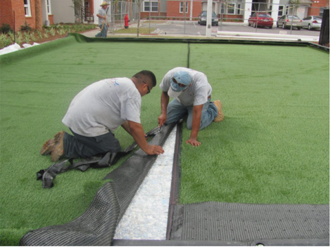 seaming synthetic turf
