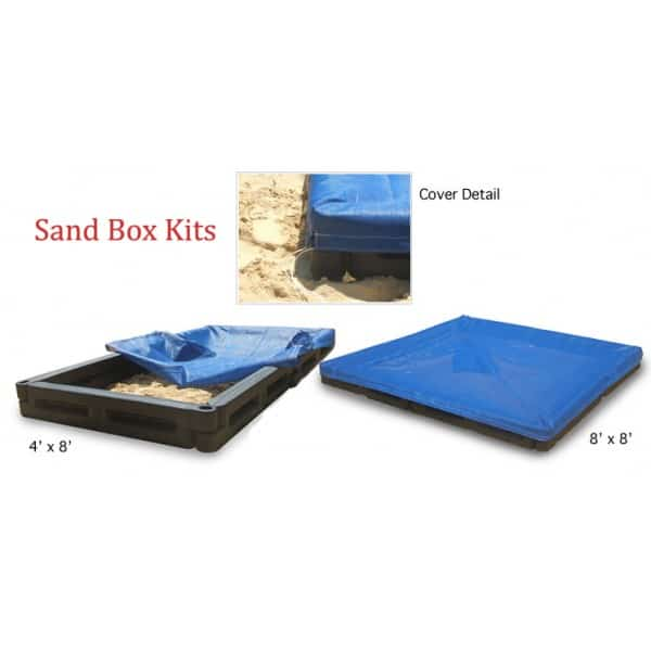 8'x8' Sand Box Package with Cover