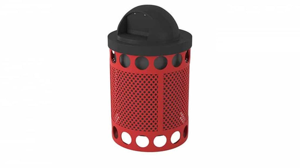 Avenue Perforated Trash Receptacle