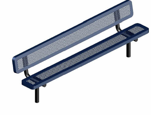 6ft Perforated Bench