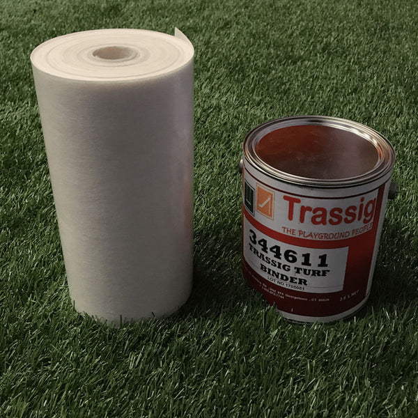 The turf seaming kit comes with everything you need to make a proper, long-lasting seal in your turf safety surfacing.