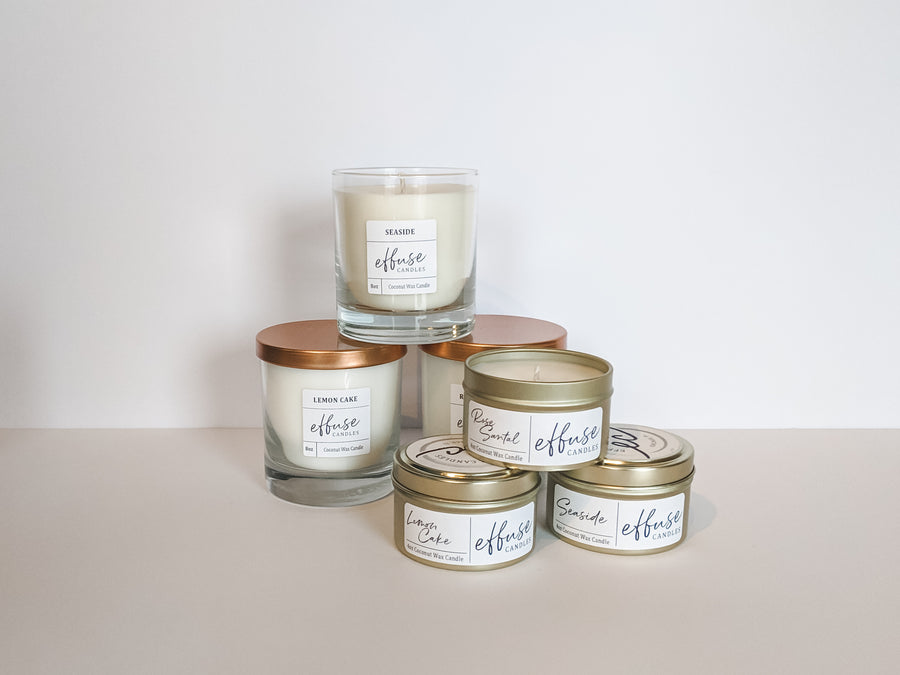 All natural candle collection