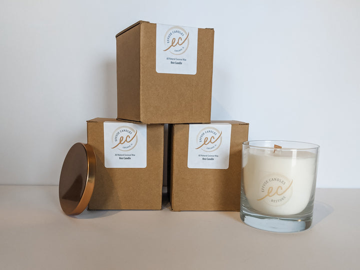 Wood wick all natural candle