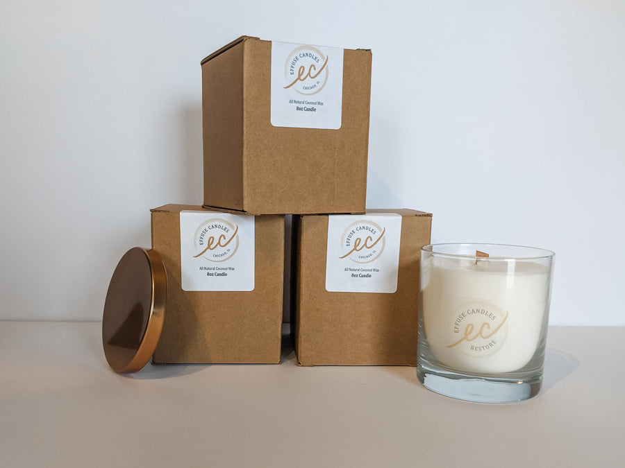 Candles in gift boxes