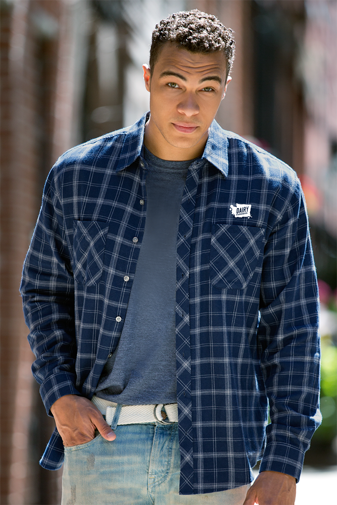 Men's Blue Flannel Shirt