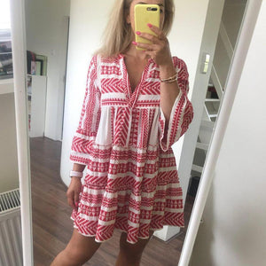 Ficcia Chic Boho Loose Mini Dress