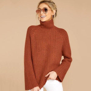 Ficcia Basic Long Sleeve High Neck Sweater