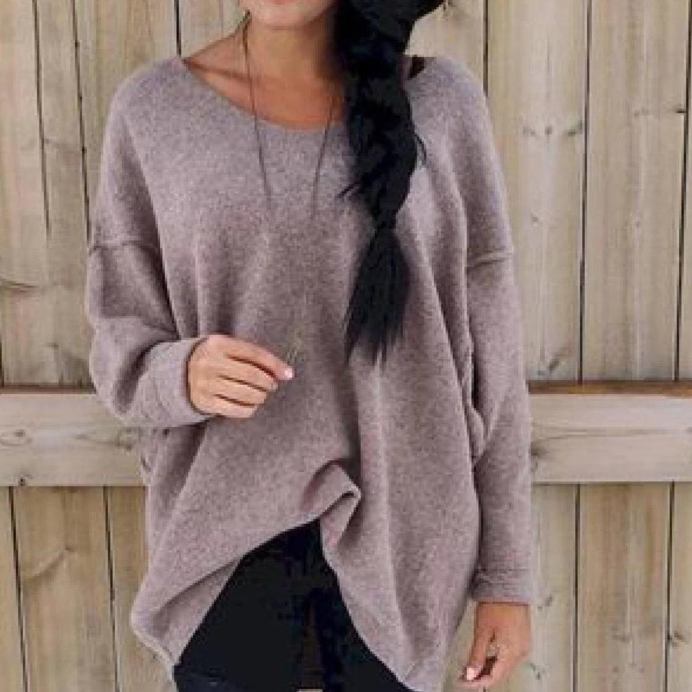 Casual Loose Round Neck Long Sleeve Sweater
