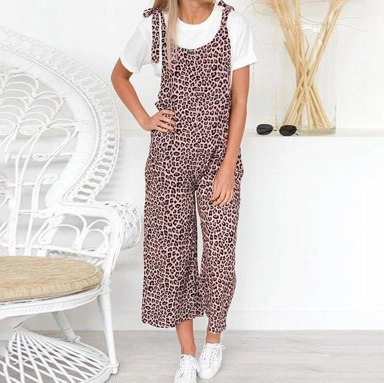 Ficcia Stylish Leopard Print Sleeveless Jumpsuit