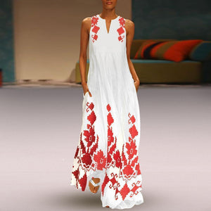 Ficcia Floral Printed Maxi Casual Dress