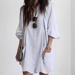 Casual Long Sleeve Oversize Dress