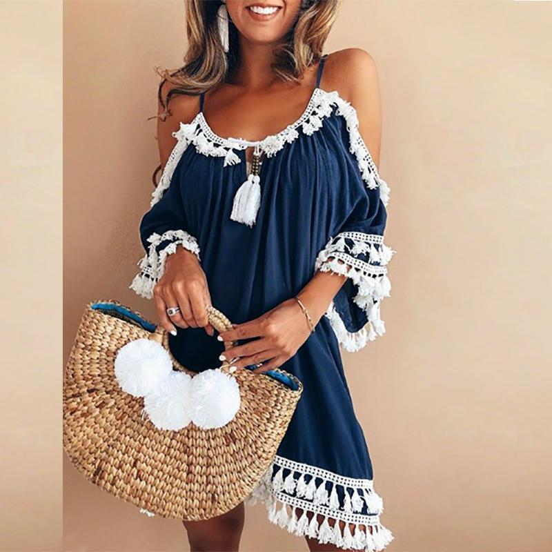 Ficcia Bohemian Casual Vacation Dress
