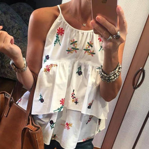 Ficcia Fashion Cute Ditsy Floral Splice Camisole