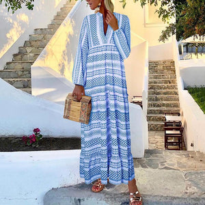 Ficcia Bohemian Printed Long Sleeve Dress