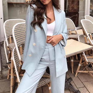 Ficcia Long Sleeve Solid Casual Two Piece Set