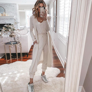 Ficcia Casual Jumpsuit and Outerwear Two-Piece Set
