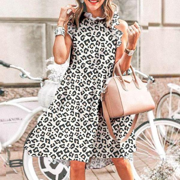 Ficcia Chic Summer Sleeveless Print Mini Dress