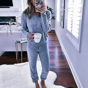 Ficcia Long Sleeve Loose Fit Loungewear With Pant Two-Piece Set